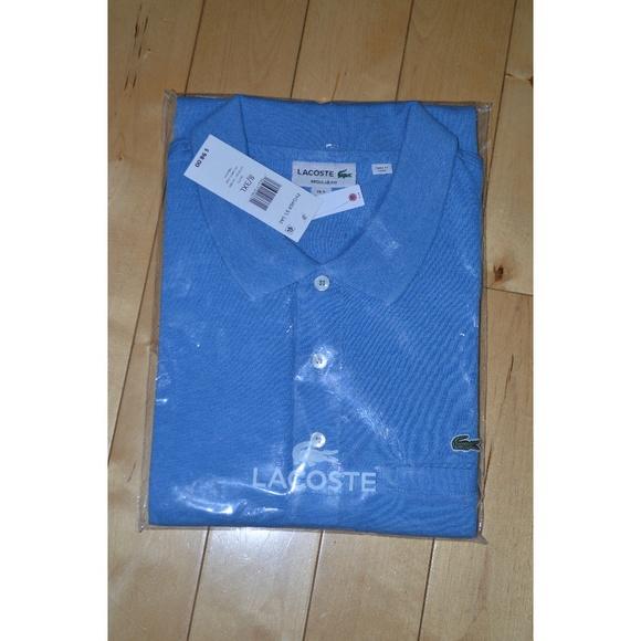 6e1bbe266c305 Lacoste Men s Mesh Pocket Polo Shirt Blue 3XL New